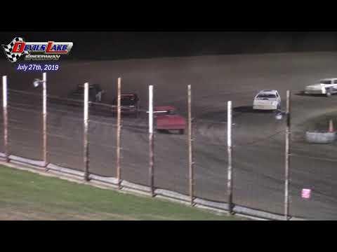Devils Lake Speedway WISSOTA Street Stock Races (7/27/19)