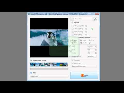 How to add video to your website with Easy HTML5 Video