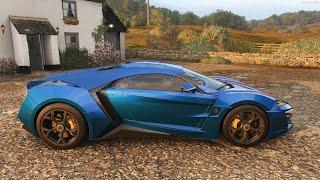 Forza Horizon 4 - 2016 W Motors Lykan Hypersport - Car Show Speed Jump Crash Test . 1440p 60fps.