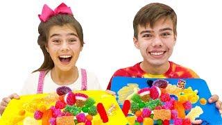 Настя и Артем - история про ее сладкие конфеты