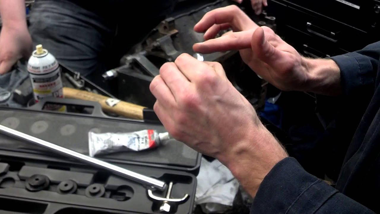 how to install a freeze or core plug into an engine block [ 1280 x 720 Pixel ]