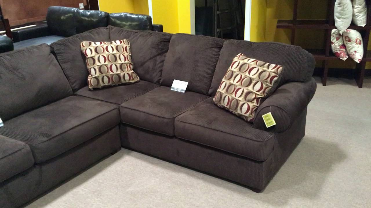 ashley vista chocolate microfiber sectional