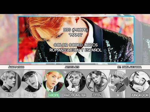 "BTS (방탄소년단) J-Hope (제이홉) ""MAMA"" [ROM|SUBESPAÑOL LYRICS]"