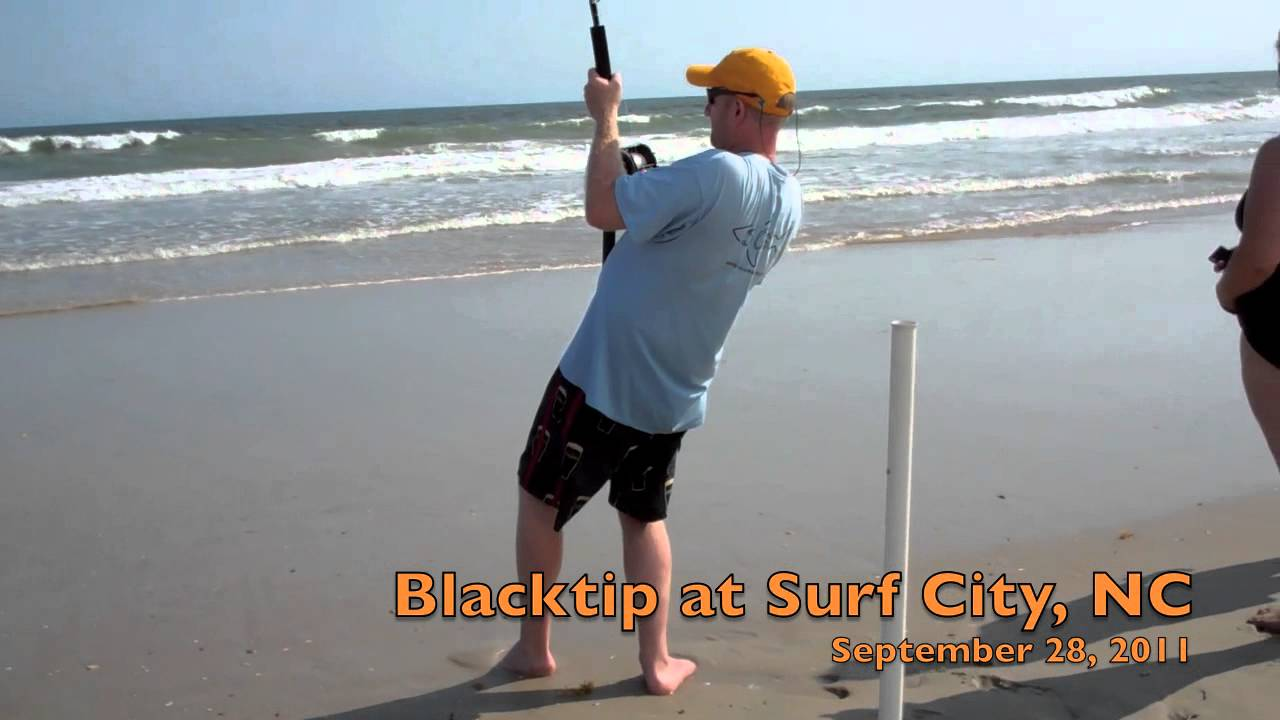 Surf city nc shark fishing youtube for Nc surf fishing report