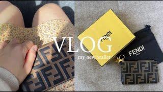 직장인 브이로그 l 새 지갑 구매! 펜디 카드지갑 언박…