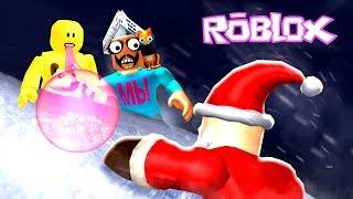 Нашли Деда МОРОЗА в Симуляторе Жвачки РОБЛОКС Прошли весь НОВЫЙ УРОВЕНЬ! Bubble Gum Simulator ROBLOX