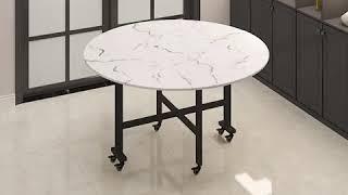 접이식 대리석 식탁 탁자 테이블 이동형 소호형 다목적 …