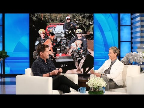 Rob Lowe and Ellen Discuss Recovery Efforts in Montecito