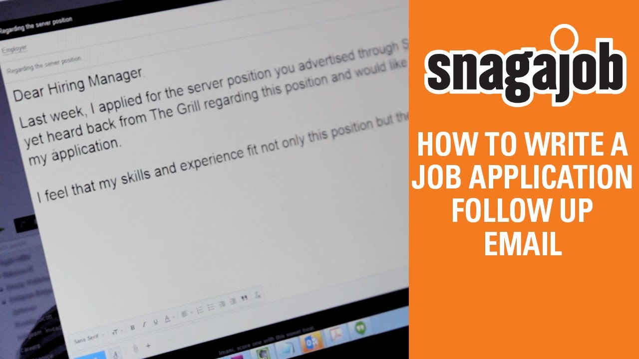 How to follow up by email | Snagajob