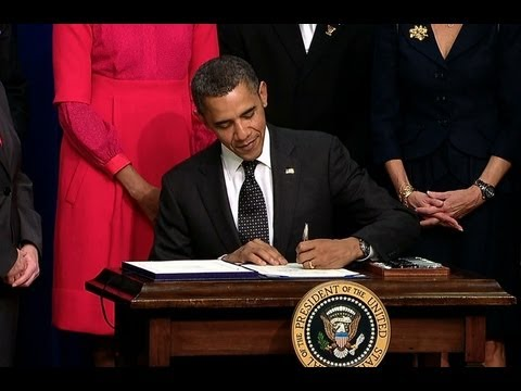 President Obama Signs a Bill Offering Tax Credits to Business that Hire Veterans