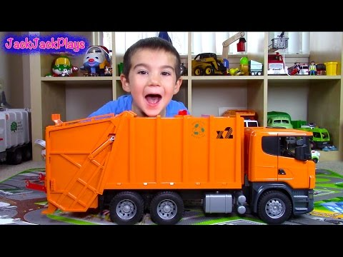 Thumbnail: Bruder Scania Garbage Truck Surprise Toy UNBOXING: Playing Recycling