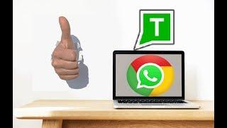 أسهل طريقة  لتشغيل الواتساب على الكمبيوتر في جوجل كروم chrome
