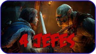 La Tierra-Media Sombras de Mordor - Gameplay Matando a 4 jefes!! (HD)(PC)