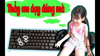 HR Troll Em Gái đổi ký tự bàn phím máy tính Cực Hài Hước - Troll Girl changes computer keyboard