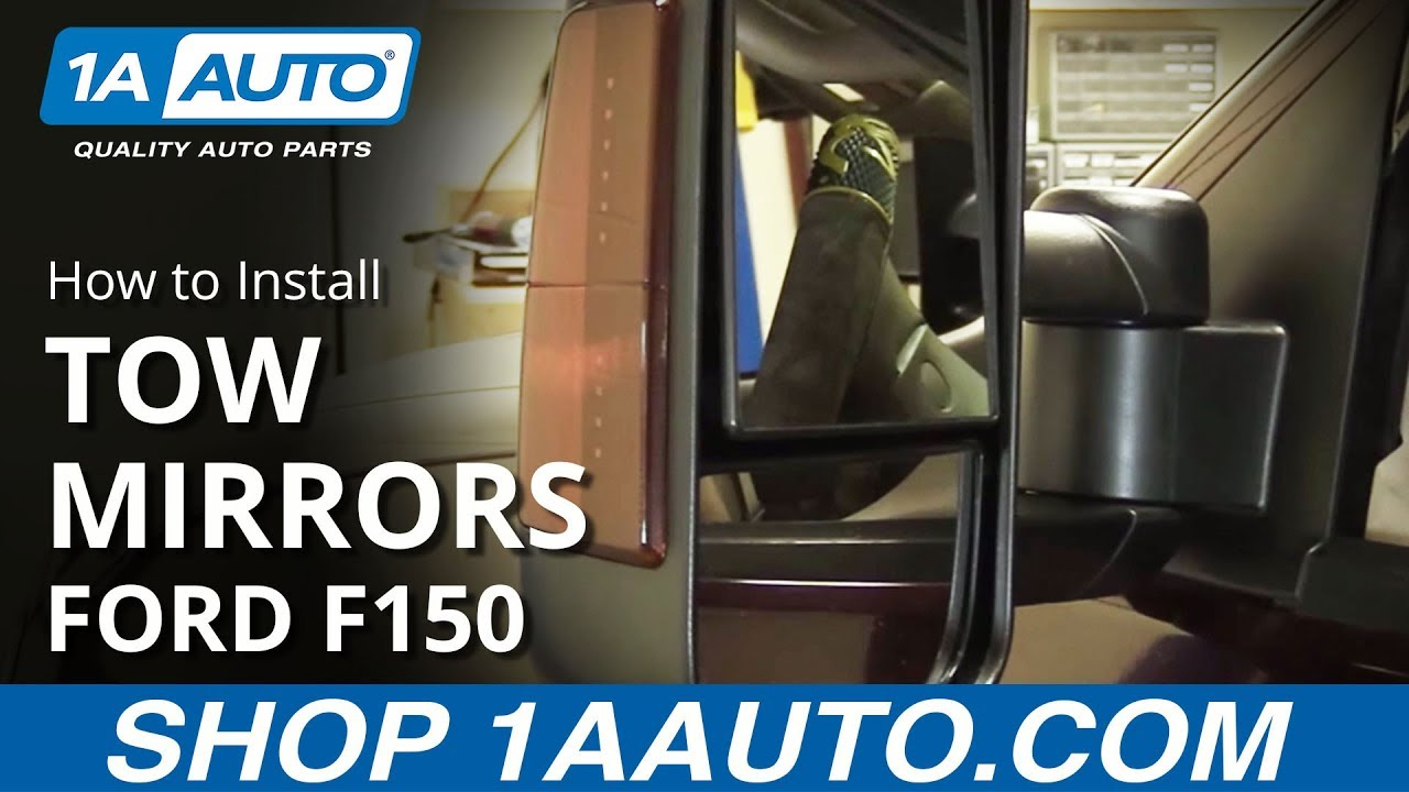 How to install replace upgrade tow mirrors 1997 03 ford f 150 youtube