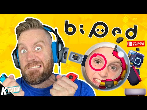 BIPED is Driving us cRAzY! (Nintendo Switch Family Battle) K-CITY GAMING |