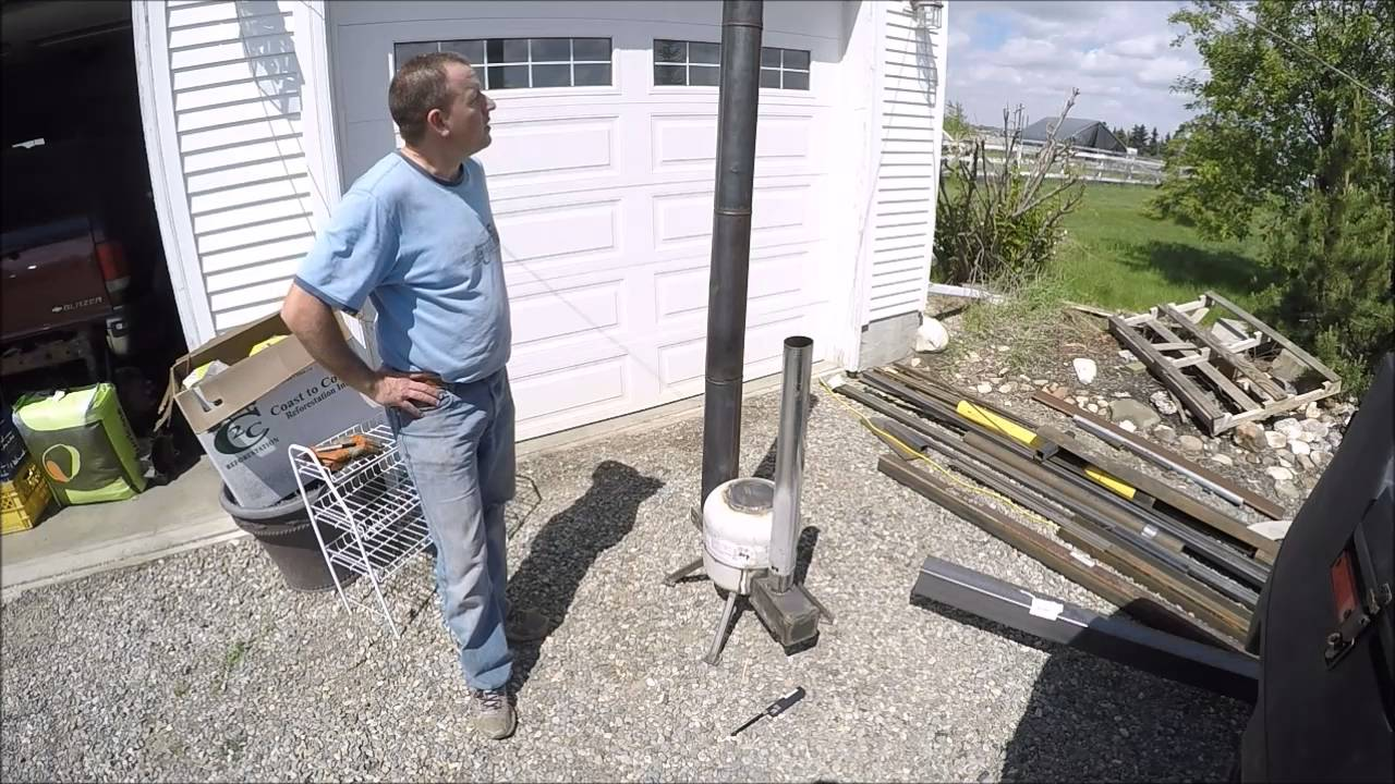 rocket stove part 2 run test youtube