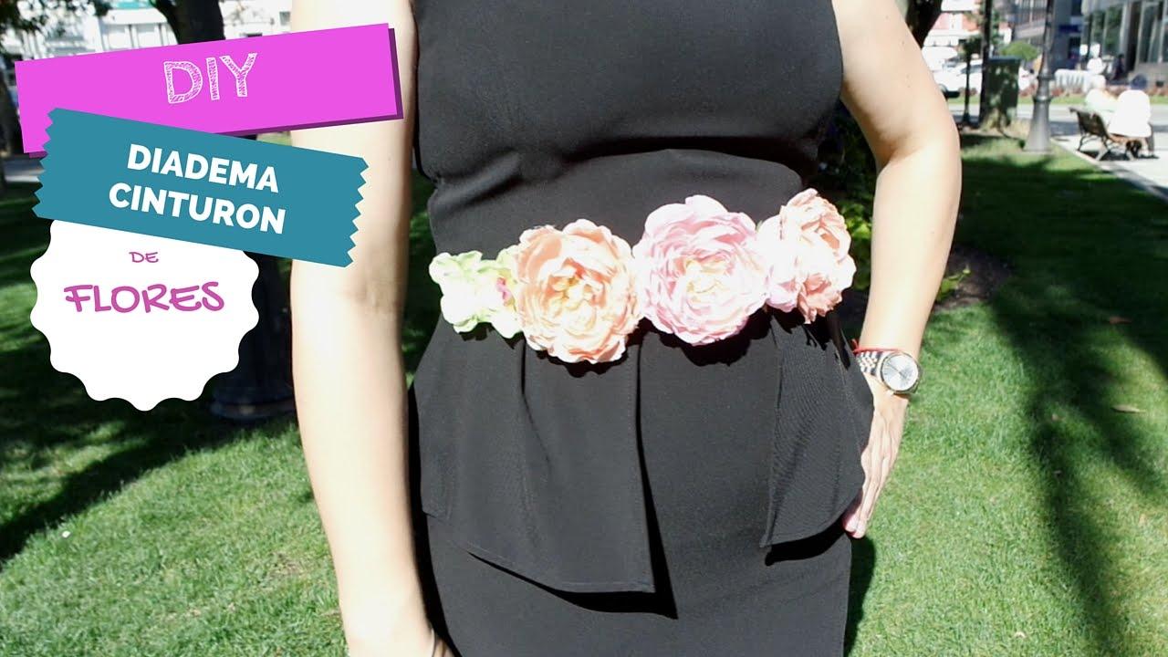 ✄ DIY  Cómo hacer un cinturón corona de flores - YouTube 0a5dde1c9096