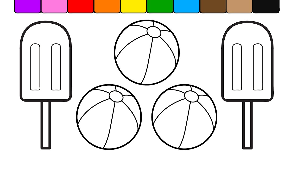 learn colors for kids with this ice cream popsicle coloring page 7
