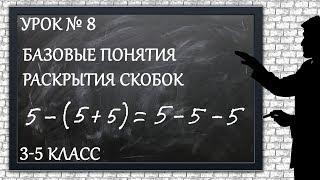 Изучаем математику с нуля / Урок № 8 / Базовые понятия раскрытия скобок