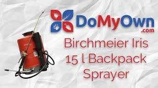 Birchmeier Iris 15L (4 Gallon) Backpack Sprayer