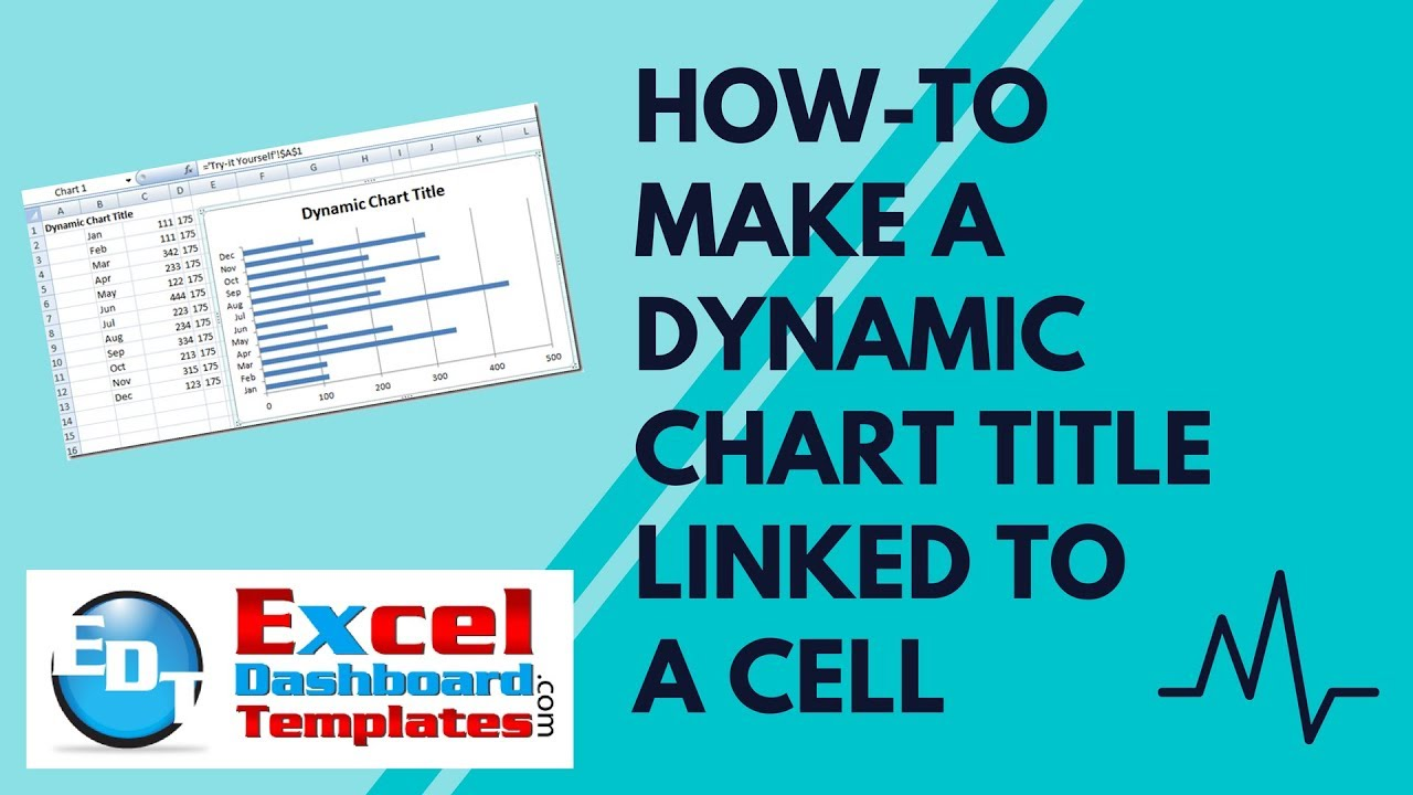 How-to Make A Dynamic Chart Title Linked To A Cell In Excel