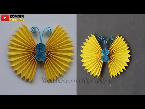 DIY Paper Butterfly Wall Hanging | Wall Decoration Idea - Cara Membuat Hiasan Dinding Kupu-Kupu