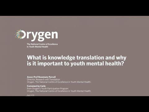 What is knowledge translation and why is it important to youth mental health?