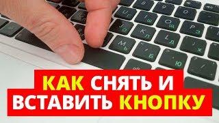 Как снять и вставить кнопку с клавиатуры ноутбука