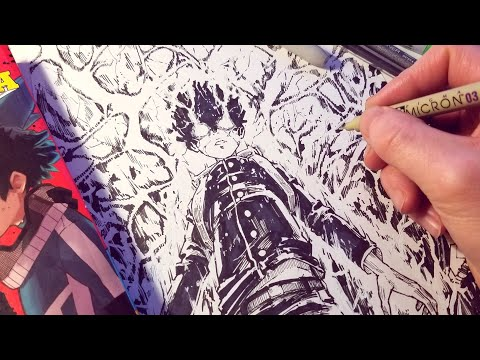 Drawing Mob Psycho 100 EPIC Power | Anime Manga Sketch