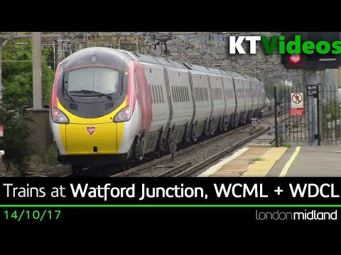 Trains at Watford Junction, WCML + WDCL - 14/10/17