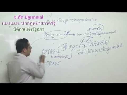 ติวเจาะประเด็นพ.ร.บ.ข้อมูลข่าวสารของราชการ พ.ศ. 2540