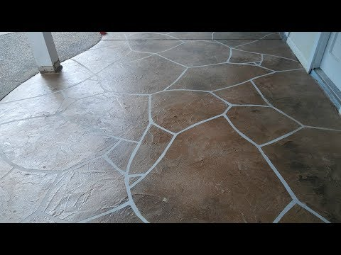 AWESOME Flagstone Patio Overlay!!! - Cypress TX