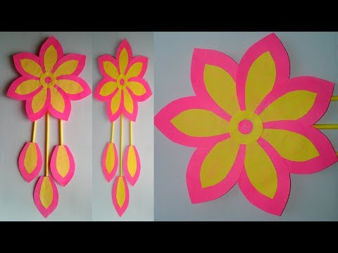 DIY Paper Craft Idea | Wall hanging craft | Home decoration flower wall hanging || SUNIL CREATION