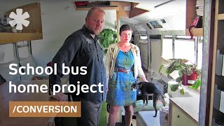 School bus becomes off-grid, transformable, tiny home