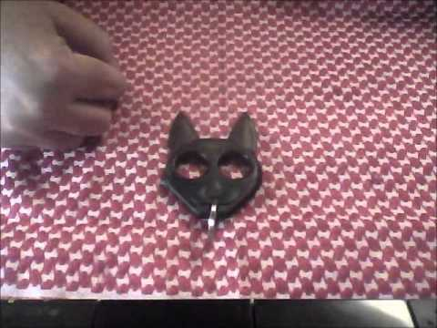 Black Cat Self Defense Keychain Youtube