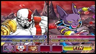 KRATOS vs DEUSES DA DESTRUIÇÃO Dragon Ball Z Budokai Tenkaichi 3 LATINO