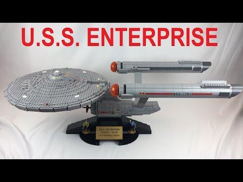 GIANT Mega Bloks Star Trek USS Enterprise Unboxing & Review