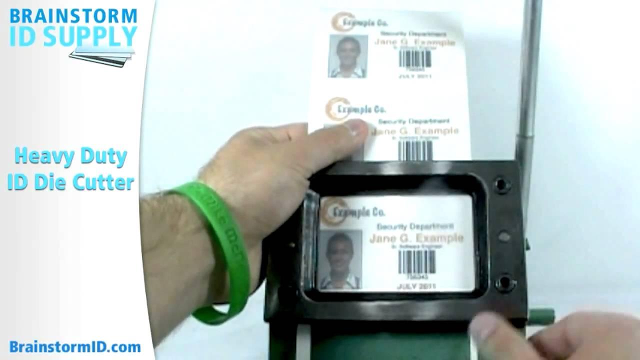 Heavy Duty ID Die Cutter - Brainstorm ID Supply - YouTube