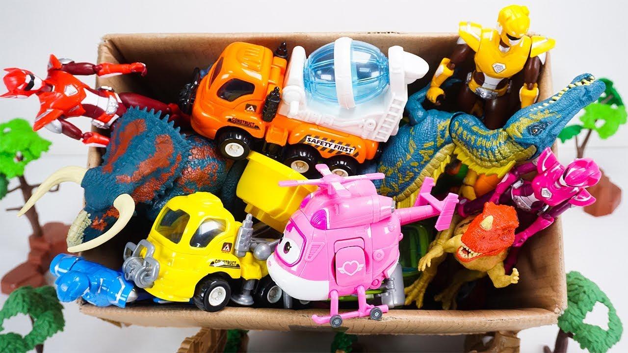 Box of Toys Jurassic World Miniforce X Super Wings  Robocar Poli Construction Toys   ToyMoon