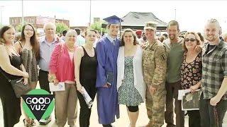 Soldier Surprises Whole Family at Son's Graduation