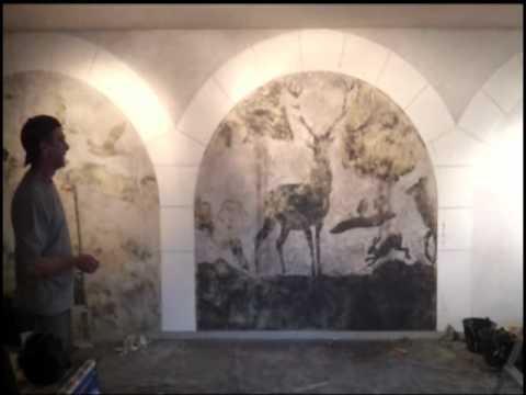 """Fresque Murale """"CHAUX MUST GO ON"""" Stuc & Tadelakt 2011"""