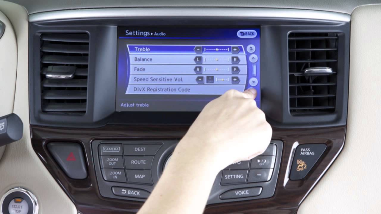 2015 Nissan Pathfinder Control Panel And Touch Screen Overview 2003 Silverado Airbag Fuse Box