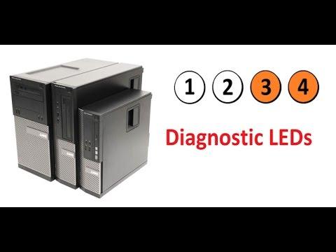 dell optiplex 9010,7010,990,790,980,780 diagnostic LED indicators lights 3  and 4