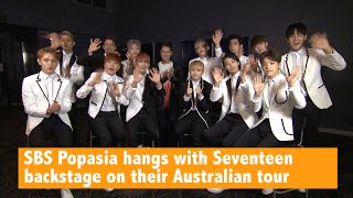 SBS Popasia hangs with Seventeen backstage on their Australian tour