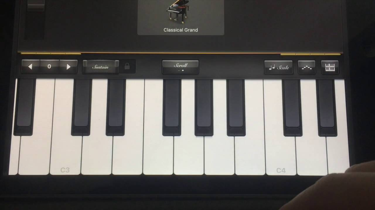 Piano Garage Band : Learn chords from the piano on the ipad with the garage band app