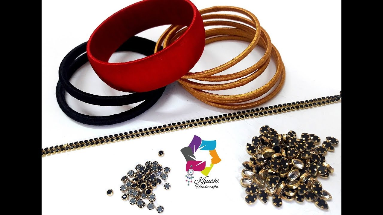 Latest Silk Thread Bangle Making At Home Diy Easy And Simple