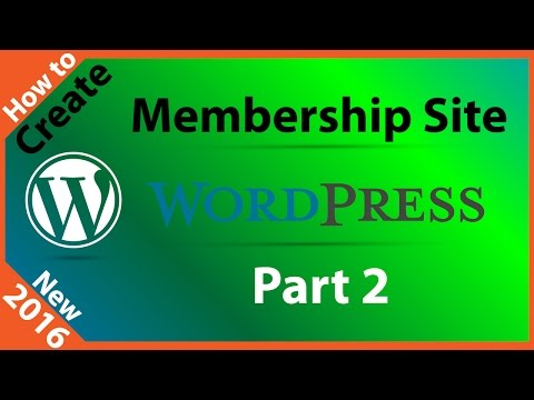 How to Create a Membership Site with WordPress - Part 2 - 동영상