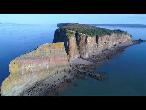 SteveDonnaTV- Cape Split Drone and Hike .. Nova Scotia