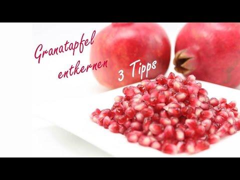 Granatapfel entkernen: 3 einfache Tipps